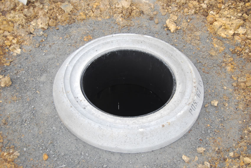 Plastic Manhole Chamber Installation - Finished Assembly